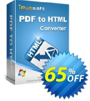 iPubsoft PDF to HTML Converter Coupon discount 65% disocunt -