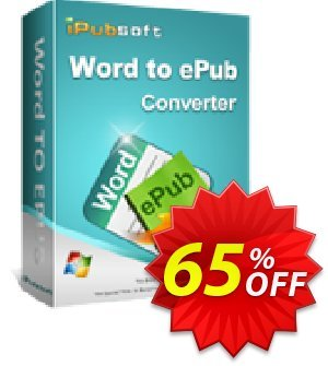 iPubsoft Word to ePub Converter Coupon, discount 65% disocunt. Promotion: