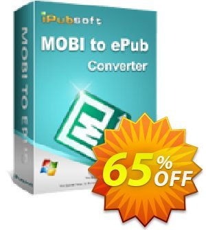 iPubsoft MOBI to ePub Converter Coupon, discount 65% disocunt. Promotion: