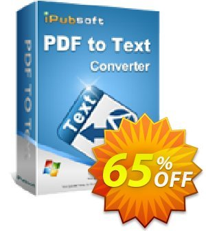 iPubsoft PDF to Text Converter割引コード・65% disocunt キャンペーン: