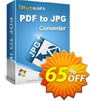 iPubsoft PDF to JPG Converter discount coupon 65% disocunt -