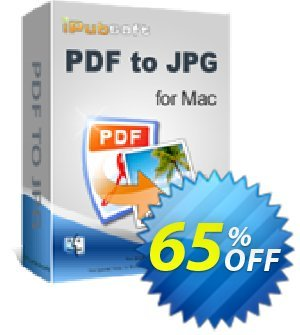 iPubsoft PDF to JPG Converter for Mac 프로모션 코드 65% disocunt 프로모션: