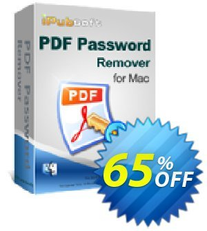 iPubsoft PDF Password Remover for Mac Coupon, discount 65% disocunt. Promotion: