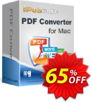 iPubsoft PDF Converter for Mac Coupon, discount 65% disocunt. Promotion: