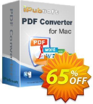 iPubsoft PDF Converter for Mac Coupon discount 65% disocunt. Promotion: