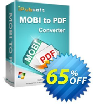 iPubsoft Mobi to PDF Converter Coupon discount 65% disocunt. Promotion: