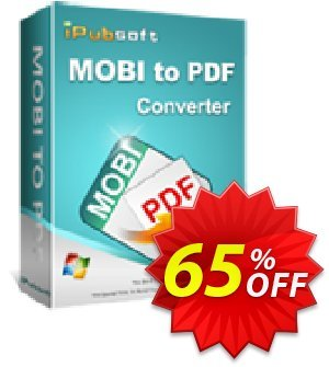 iPubsoft Mobi to PDF Converter Coupon, discount 65% disocunt. Promotion: