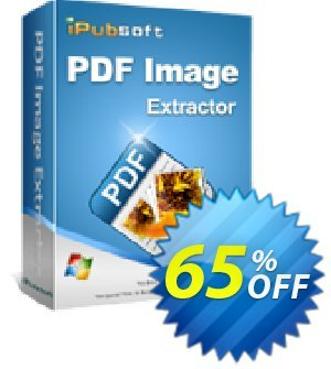 iPubsoft PDF Image Extractor Coupon, discount 65% disocunt. Promotion: