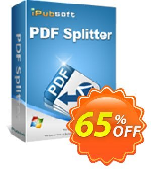iPubsoft PDF Splitter Coupon, discount 65% disocunt. Promotion: