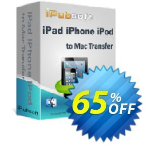 iPubsoft iPad iPhone iPod to Mac Transfer Coupon, discount 65% disocunt. Promotion: