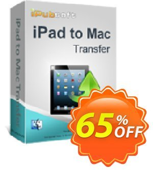 iPubsoft iPad to Mac Transfer Coupon, discount 65% disocunt. Promotion: