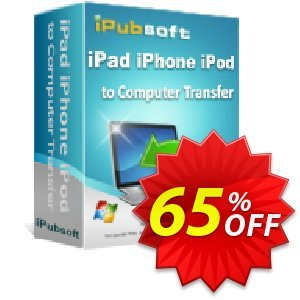 iPubsoft iPad iPhone iPod to Computer Transfer 優惠券,折扣碼 65% disocunt,促銷代碼: