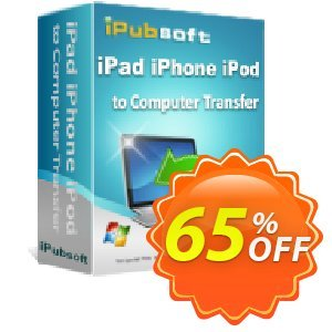 iPubsoft iPad iPhone iPod to Computer Transfer Coupon, discount 65% disocunt. Promotion: