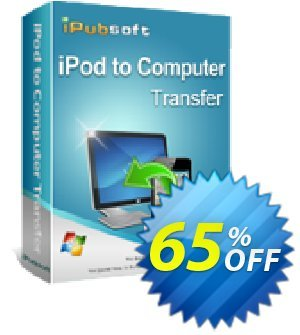 iPubsoft iPod to Computer Transfer 優惠券,折扣碼 65% disocunt,促銷代碼: