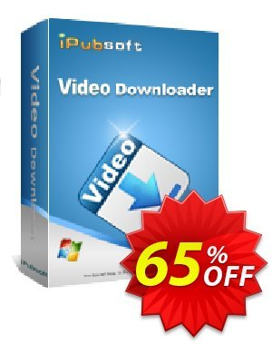 iPubsoft Video Downloader discount coupon 65% disocunt -
