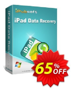 iPubsoft iPad Data Recovery Coupon, discount 65% disocunt. Promotion: