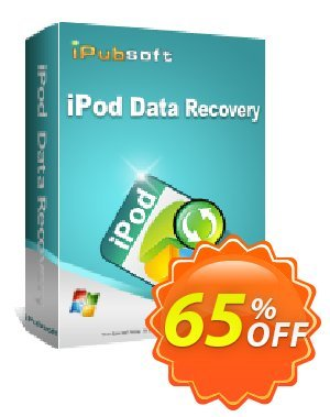 iPubsoft iPod Data Recovery Coupon discount 65% disocunt. Promotion: