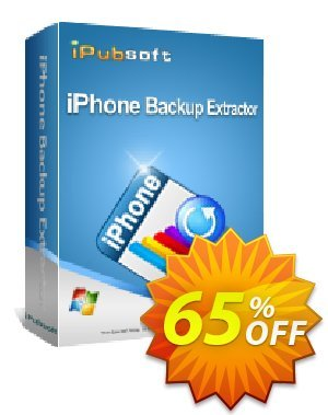 iPubsoft iPhone Backup Extractor Coupon discount 65% disocunt -