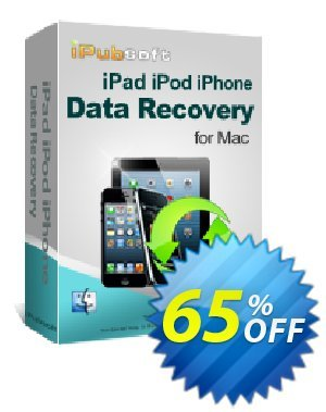 iPubsoft iPad/iPod/iPhone Data Recovery for Mac Coupon, discount 65% disocunt. Promotion: