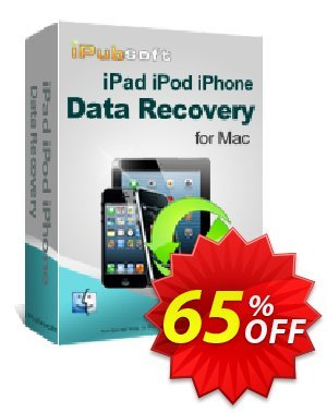 iPubsoft iPad/iPod/iPhone Data Recovery for Mac discount coupon 65% disocunt -