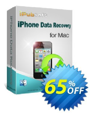 iPubsoft iPhone Data Recovery for Mac 優惠券,折扣碼 65% disocunt,促銷代碼:
