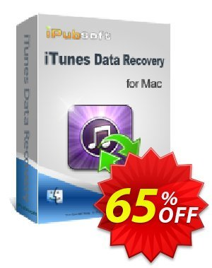 iPubsoft iTunes Data Recovery for Mac Gutschein rabatt 65% disocunt Aktion: