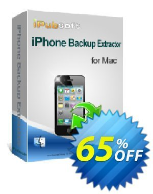 iPubsoft iPhone Backup Extractor for Mac Coupon discount 65% disocunt -