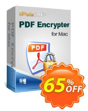 iPubsoft PDF Encrypter for Mac discount coupon 65% disocunt -