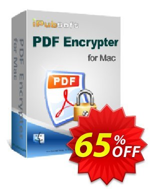iPubsoft PDF Encrypter for Mac Coupon discount 65% disocunt. Promotion: