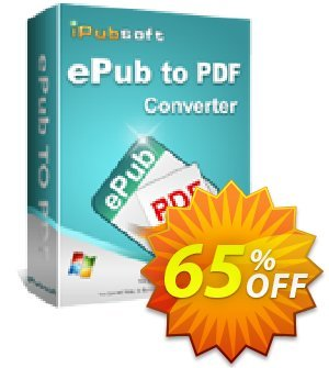 iPubsoft ePub to PDF Converter Coupon, discount 65% disocunt. Promotion: