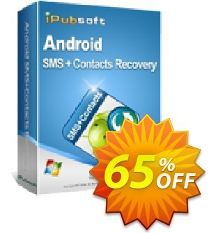 iPubsoft Android SMS+Contacts Recovery Coupon discount 65% disocunt -