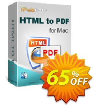 iPubsoft HTML to PDF Converter for Mac Coupon discount 65% disocunt. Promotion: