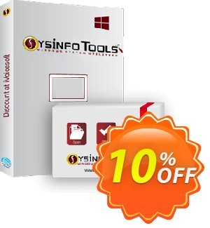 SysInfoTools DBX to PST Converter 優惠券,折扣碼 SYSINFODISCOUNT,促銷代碼: Coupon code for SysInfo tools software