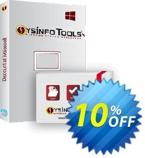 SysInfoTools EML to NSF Converter Coupon, discount SYSINFO TOOLS coupon (36703). Promotion: Coupon code for SysInfo tools software