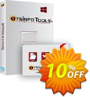 SysInfoTools Add Outlook PST discount coupon SYSINFODISCOUNT - Coupon code for SysInfo tools software