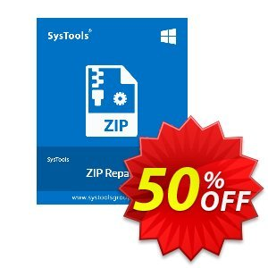 SysTools Zip Repair (Enterprise) Coupon discount SysTools coupon 36906. Promotion: