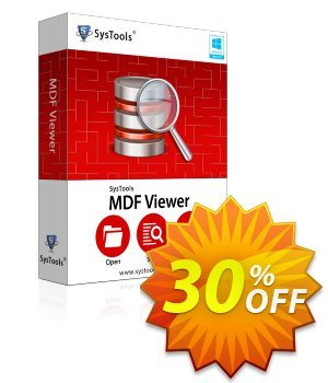 MDF Viewer Pro - Enterprise License Coupon discount SysTools coupon 36906. Promotion: SysTools promotion codes 36906