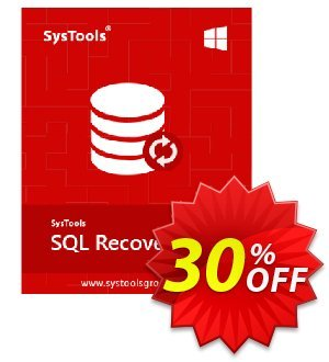 SysTools SQL Recovery - Enterprise License 優惠券,折扣碼 SysTools coupon 36906,促銷代碼: