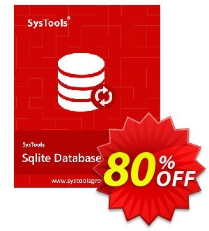 SysTools SQLite Database Recovery - Personal License discount coupon SysTools coupon 36906 -