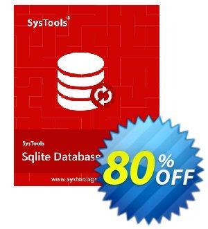 SysTools SQLite Database Recovery - Enterprise License 優惠券,折扣碼 SysTools coupon 36906,促銷代碼: