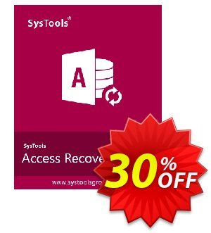 SysTools Access Recovery (Enterprise License) 優惠券,折扣碼 SysTools coupon 36906,促銷代碼: