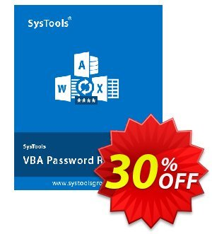 SysTools VBA Password Recovery 優惠券,折扣碼 30% OFF SysTools VBA Password Recovery, verified,促銷代碼: Awful sales code of SysTools VBA Password Recovery, tested & approved