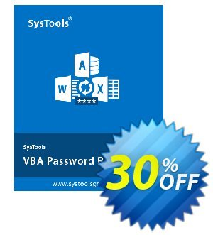 SysTools VBA Password Recovery (Business) 프로모션 코드 SysTools coupon 36906 프로모션: