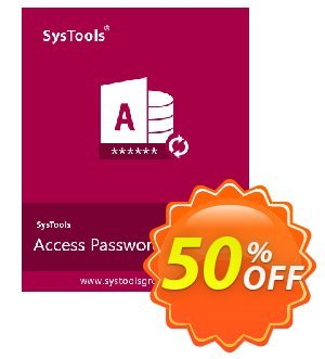 SysTools Access Password Recovery discount coupon SysTools Summer Sale -