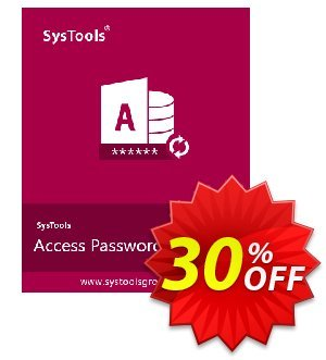 SysTools Access Password Recovery (Business) 優惠券,折扣碼 SysTools coupon 36906,促銷代碼: