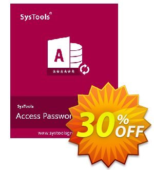 Get SysTools Access Password Recovery (Enterprise) 30% OFF coupon code