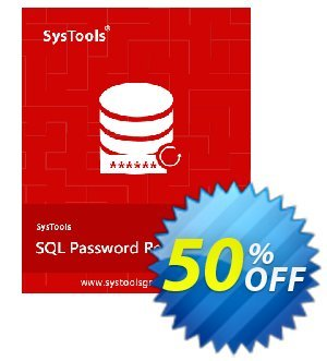 Get SysTools SQL Password Recovery 50% OFF coupon code