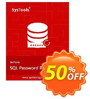 Get SysTools SQL Password Recovery - Business License 50% OFF coupon code