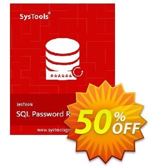 Get SysTools SQL Password Recovery - Enterprise License 30% OFF coupon code