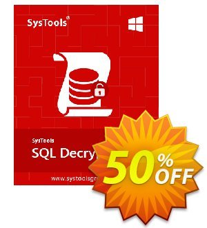 SysTools SQL Decryptor discount coupon SysTools Summer Sale -